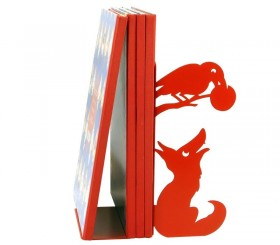 Bookend Crow and Fox
